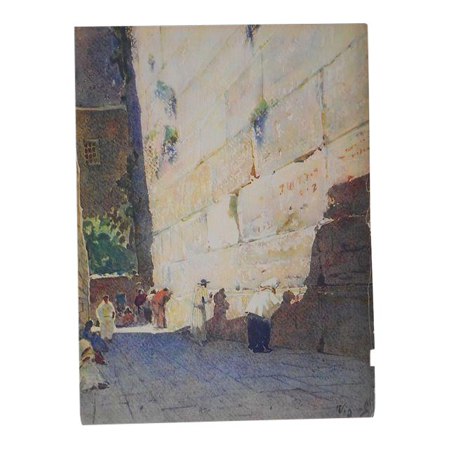 Vintage Lithograph-Wailing Wall-Jerusalem - Image 1 of 3