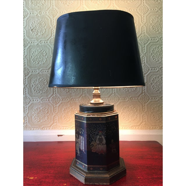 Asian Early English Tea Canister Lamp For Sale - Image 3 of 6
