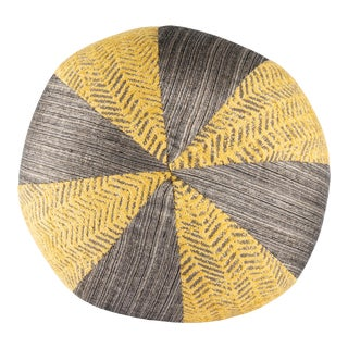 ReWeave Round Yellow Pillow For Sale