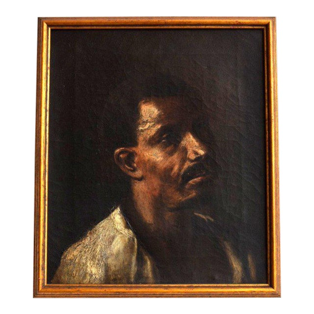 Vintage Painting of The Man For Sale