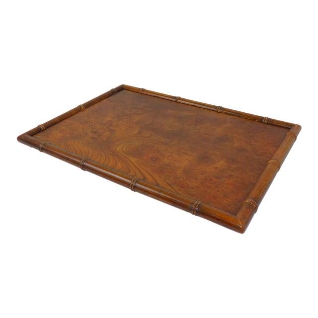 Vintage Burl Wood Walnut Serving Tray For Sale