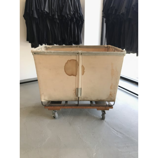 1940s Vintage Petite Dandux Laundry Cart For Sale - Image 5 of 6