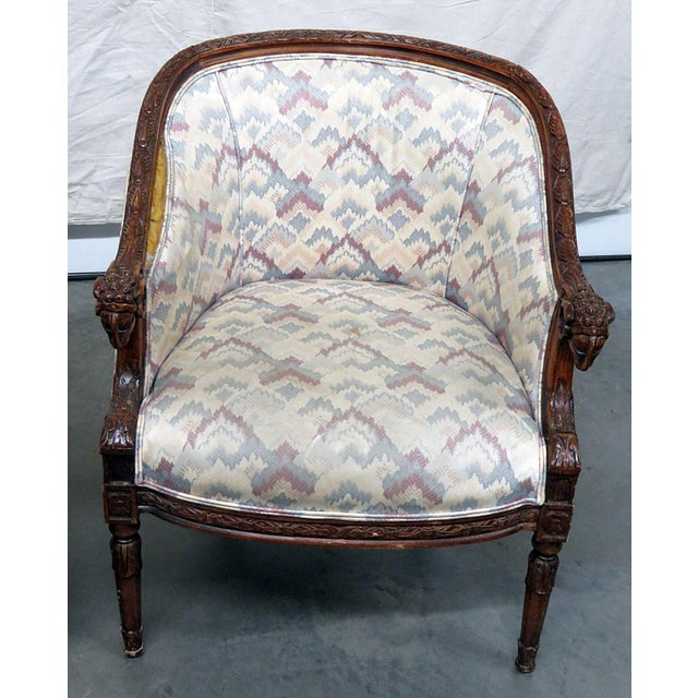 Regency Regency Style Club Chairs - a Pair For Sale - Image 3 of 13