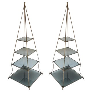 1960s Pyramid Étagères-A Pair For Sale