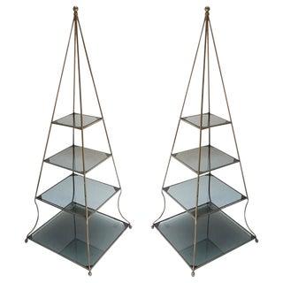 1960s Pyramid Étagères-A Pair For Sale
