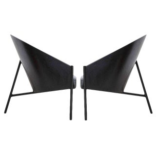 "Pair Philippe Starck ""Pratfall"" Easy Chairs For Sale"
