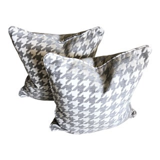 Houndstooth Pillows - a Pair For Sale