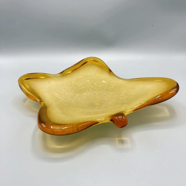 1960's Mid Century Italian Hand Blown Ashtray Sign by Murano For Sale - Image 9 of 9