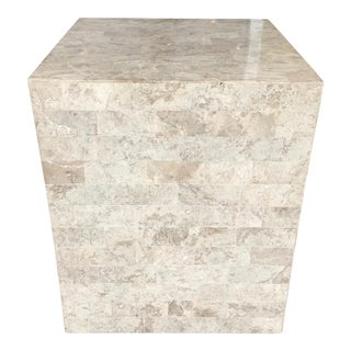 Tessellated Stone Pedestal or Accent Table For Sale