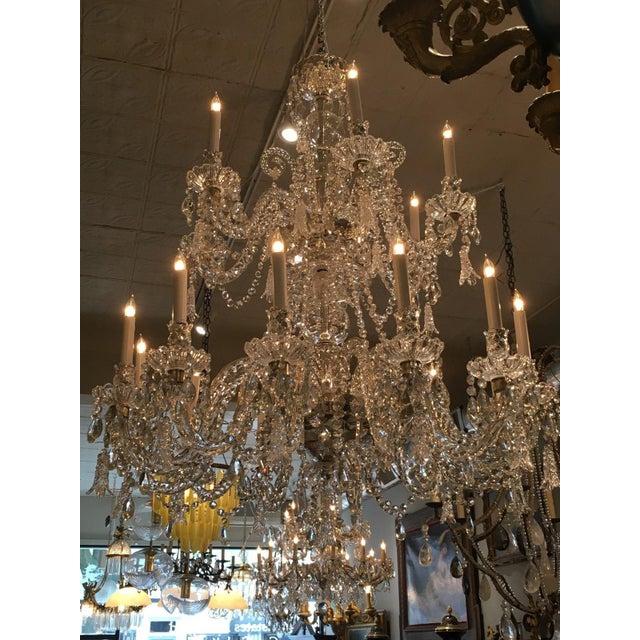 Antique Cut Crystal 18 Light Chandelier - Image 10 of 11