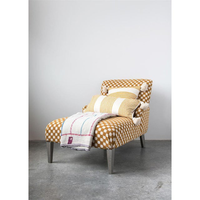 Not Yet Made - Made To Order Woven Fabric Chaise Lounge For Sale - Image 5 of 6