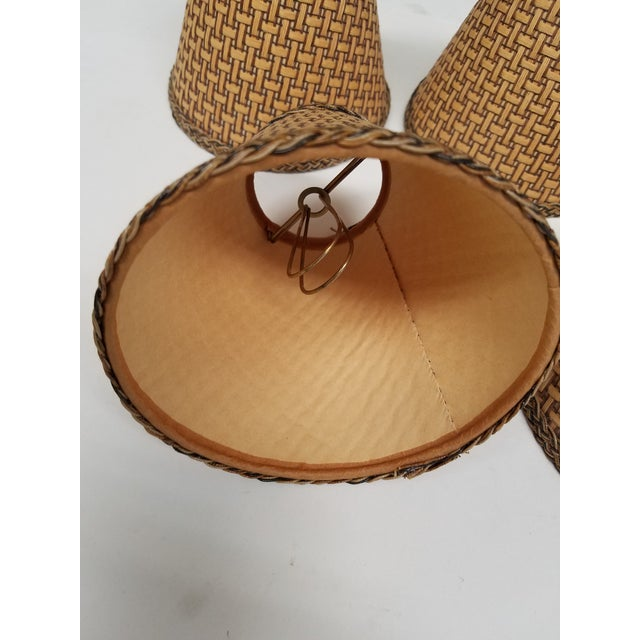 Cottage Wicker Chandelier Shades - Set of 5 For Sale - Image 3 of 4