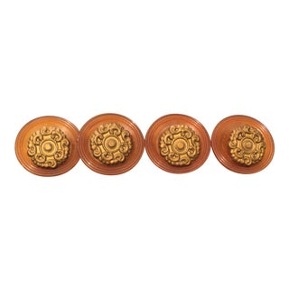 Art Nouveau Modern Bakelite Drawer Pulls Handles - Set of 4 For Sale