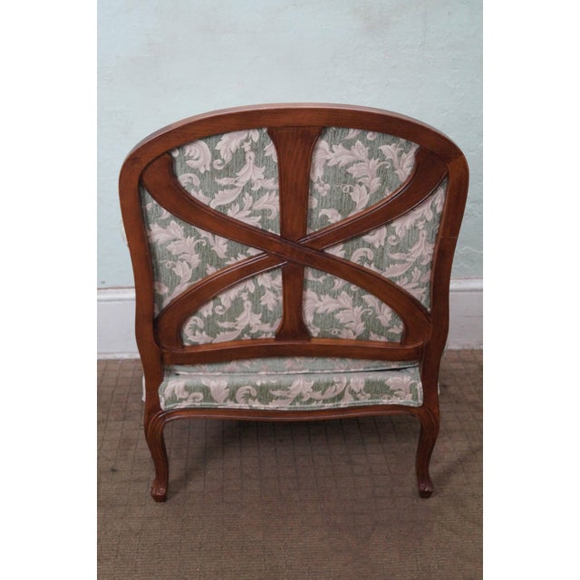 Ethan Allen Louis XV Chaise Lounge & Ottoman - Image 6 of 7