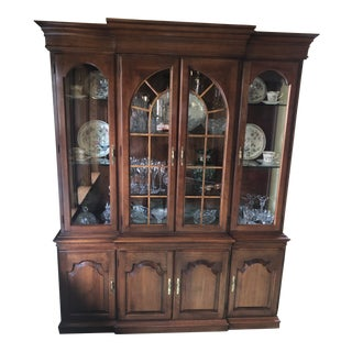 Harden Solid Cherry China Cabinet For Sale
