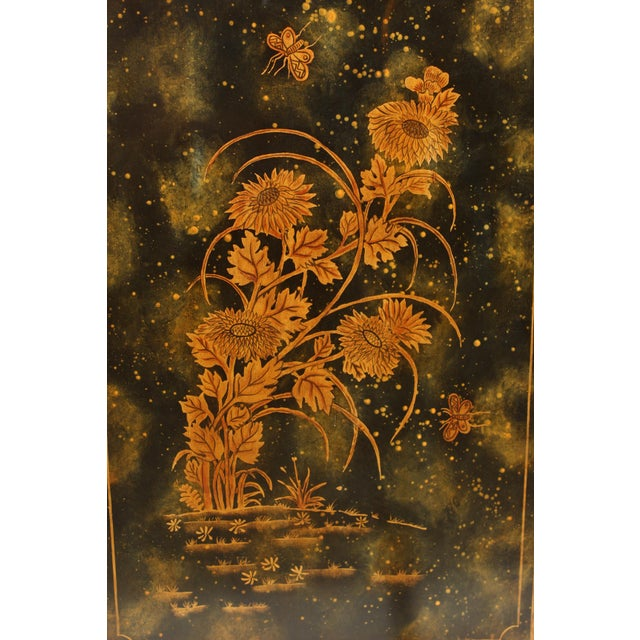 Brass Chinoiserie Maitland Smith Decorated Chest of Drawers For Sale - Image 7 of 13
