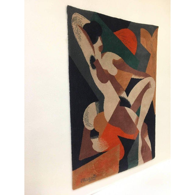 A beautiful wool rug of a 1923 abstract painting of a nude woman by Renè Magritte. This was woven by Axminste, Ege,...