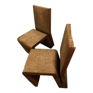 Frank Gehry Cardboard Side Chairs - A Pair For Sale