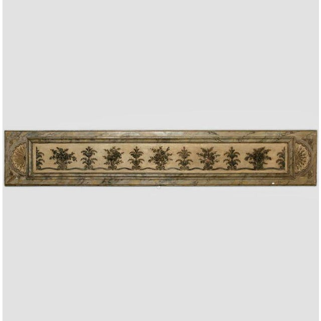 Antique Italian Long Narrow Hand Carved Wood Architectural Piece - Image 2 of 6
