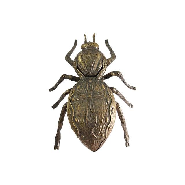 Italian Brass Beetle Ashtray For Sale