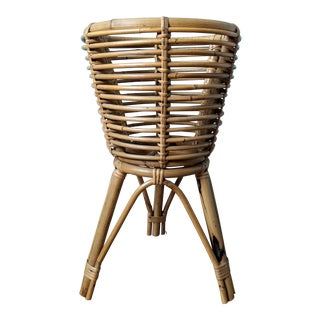 Boho Chic Bamboo Plant Stand For Sale
