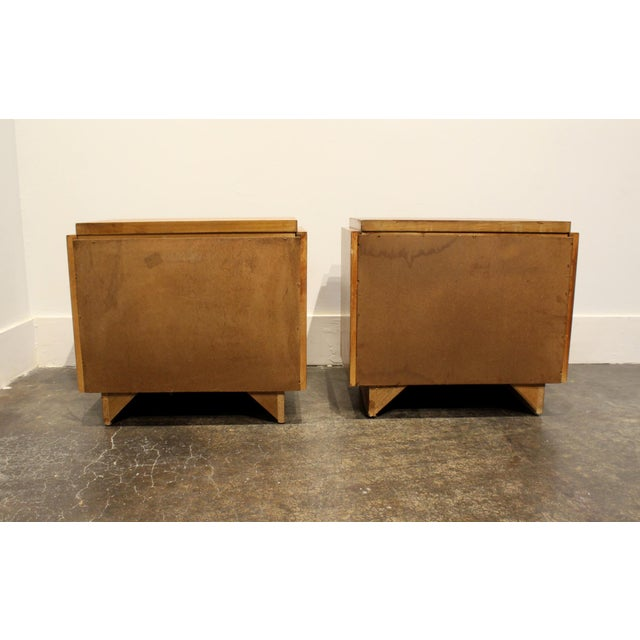 Pair of Oak 1970s Mid-Century Modern Brutalist Nightstands by Lane For Sale In Dallas - Image 6 of 9