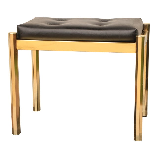 Koch Originals Vanity Stool in Gold and Black For Sale