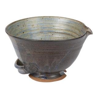 Colander Style Studio Pottery Bowl For Sale