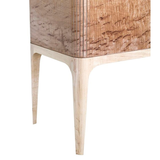 Wood Tambour Bar - Maple by Poritz & Studio For Sale - Image 7 of 8