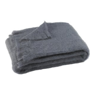 Storm Brushed Mohair Throw