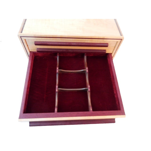 Large Jewelry Box & Organizer For Sale - Image 4 of 11