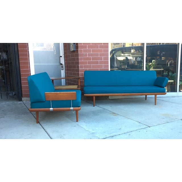This is a rare beautiful Danish sectional designed by Peter Hvidt and Orla Morlgaard-Nielsen for France & Sons. It is...