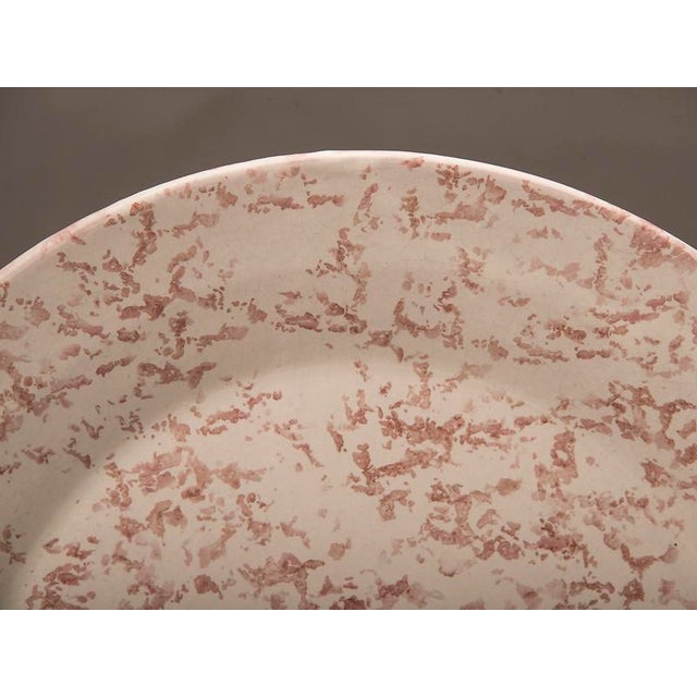 1930s Large hand painted sponge ware platter signed by the artist from France For Sale - Image 5 of 6
