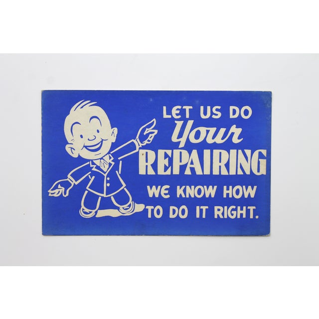 'Let Us Do Your Repairing' Store Sign - Image 2 of 3