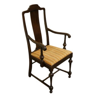 1589 W.F. Whitney Co. Mahogany Splat Back Dining Arm Chair For Sale
