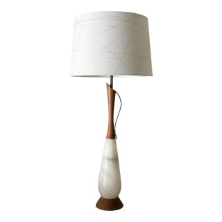 1960s Mid Century Modern Walnut Table Lamp For Sale