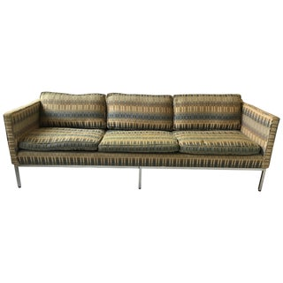 1960s Straight Back Chrome Sofa For Sale