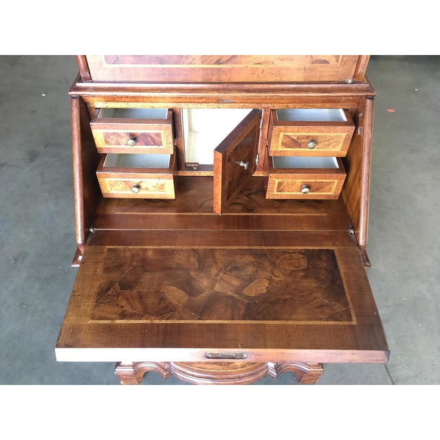 Modern Neo Classic Rococo Curio Display Case & Secretary Desk For Sale In Los Angeles - Image 6 of 9