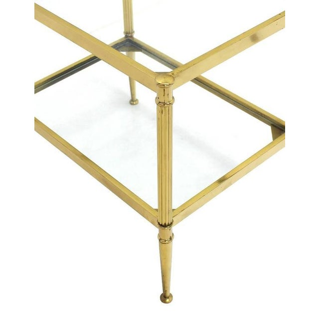 Gold Set of Three Mid-Century Modern Brass Nesting End Tables For Sale - Image 8 of 9