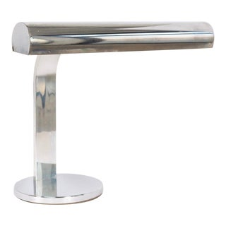Mid Century Modernist Stainless Steel Table Lamp For Sale