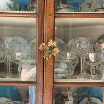 "Addison Weeks Dogwood 3"" Custom Knob - Polished Brass & Labradorite For Sale In Charlotte - Image 6 of 7"
