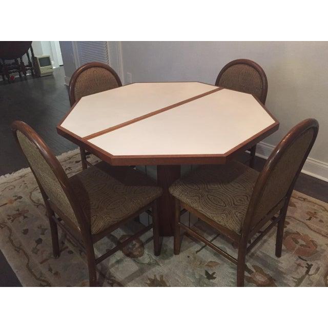 5-Piece Vintage Teak & Corian Dining Set - Image 2 of 9