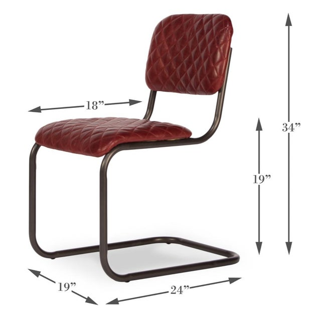 Metal Sarreid Ltd Rodeo Drive Dining Side Chairs - Set of 2 For Sale - Image 7 of 8