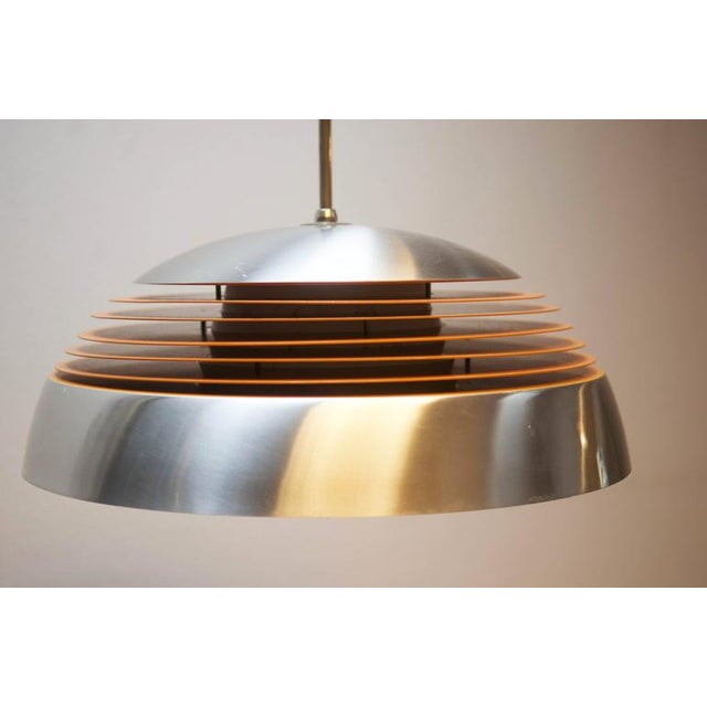 Mid-Century Modern Aluminum hanging lamp, 1970s For Sale - Image 3 of 10