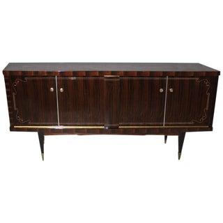 French Art Deco Macassar Exotic Sideboard / Credenza / Buffet Circa 1940s