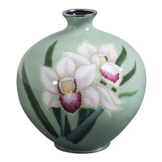 Japanese Cloisonné Enamel Vase Attributed to Ando, circa 1950 For Sale