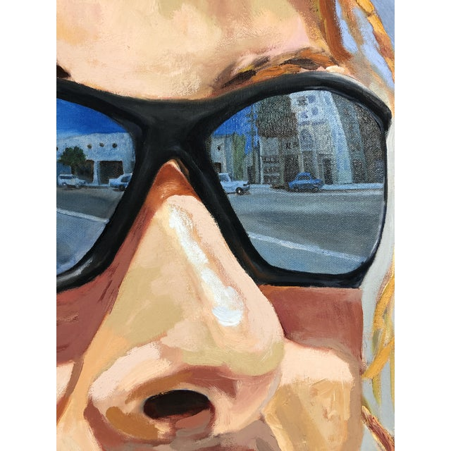 2004 Original Portrait ''City Streets'' Oil on Canvas Painting Signed Susan Lawrence For Sale In Los Angeles - Image 6 of 8