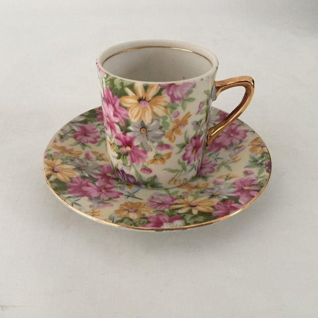 Vintage Cottage Style Demitasse Cup and Saucer - 2 Pc. For Sale In New York - Image 6 of 6