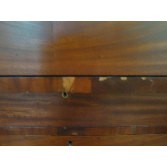 19thC Antique Burl & Walnut Empire Chest of Drawers For Sale - Image 10 of 12
