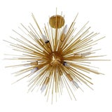 Image of Late 20th Century Gold Sputnik Chandelier For Sale
